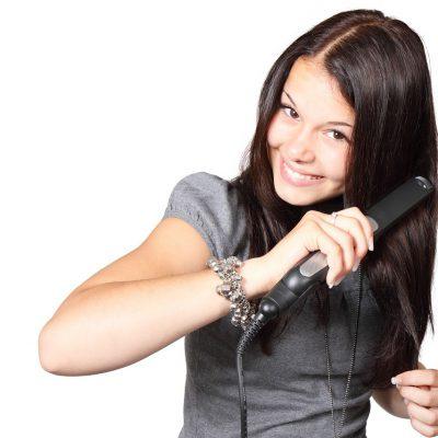 前髪のカールの付け方